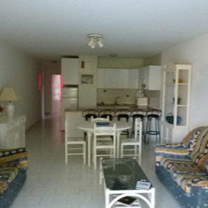 Вид со стороны сада на кухню и коридор